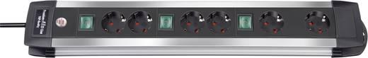 Steckdosenleiste mit Schalter 6fach Schwarz, Aluminium Schutzkontakt Brennenstuhl 1391000078