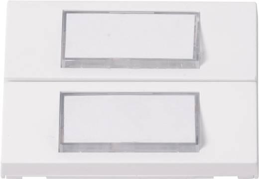 Klingelplatte beleuchtet, mit Namensschild 2fach Heidemann 70057 Weiß 24 V/1 A