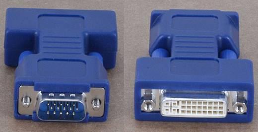 VGA / DVI Adapter [1x VGA-Stecker - 1x DVI-Buchse 24+5pol.] Blau