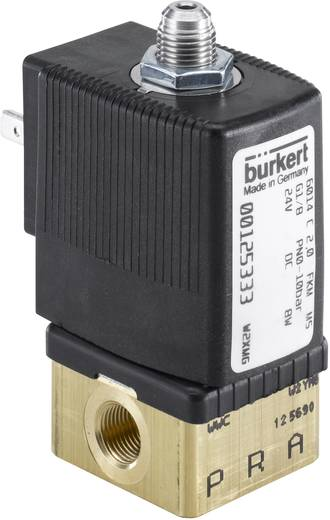 3/2-Wege Direktgesteuertes Ventil Bürkert 125341 24 V/DC G 1/8 Nennweite 2.5 mm Gehäusematerial Messing Dichtungsmateria