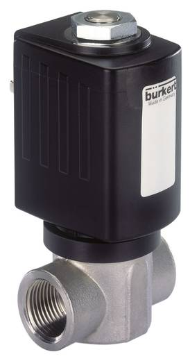 Bürkert 184689 2/2-Wege Direktgesteuertes Ventil 24 V/DC G 1/4 Muffe Nennweite 2 mm Gehäusematerial Edelstahl Dichtungsm