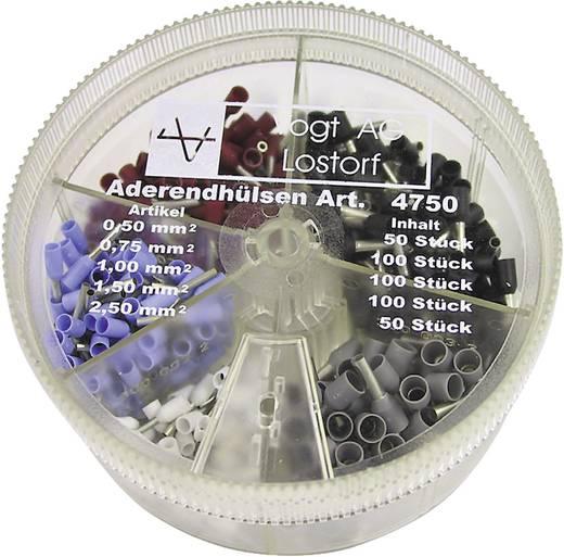 Aderendhülsen-Sortiment 0.50 mm² 2.50 mm² Weiß, Hellblau, Rot, Schwarz, Grau Vogt Verbindungstechnik 4750 400 St.