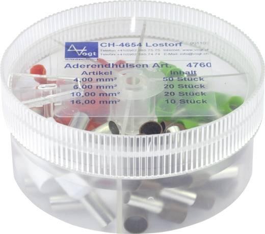 Aderendhülsen-Sortiment 4 mm² 16 mm² Orange, Grün, Braun, Elfenbein Vogt Verbindungstechnik 4760 100 St.