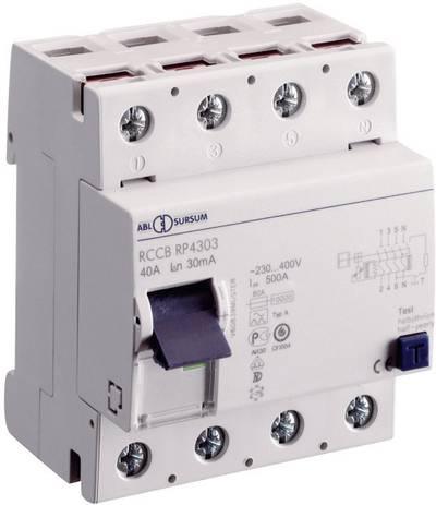 Interruttore di protezione FI ABL Sursum 5013 4 poli 40 A 0.03 A 400 V 1 pz.