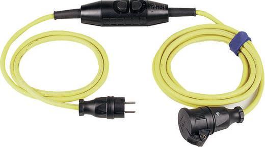 Strom Verlängerungskabel [ Schutzkontakt-Gummi-Stecker - Schutzkontakt-Gummi-Kupplung] 16 A Gelb, Schwarz 4.50 m mit PR