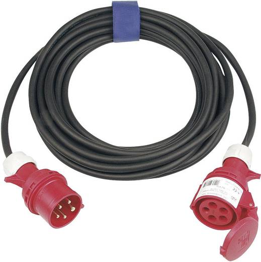 Strom Verlängerungskabel [ CEE-Stecker - CEE-Kupplung] 16 A Schwarz 10 m SIROX 363.410