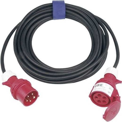 Strom Verlängerungskabel [ CEE-Stecker - CEE-Kupplung] 16 A Schwarz 25 m SIROX 363.425
