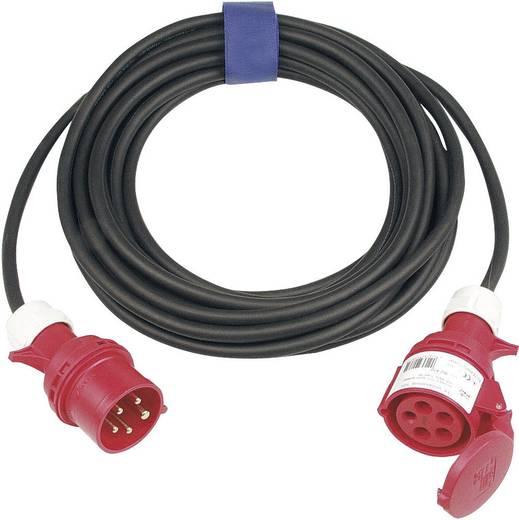 Strom Verlängerungskabel [ CEE-Stecker - CEE-Kupplung] 32 A Schwarz 10 m SIROX 365.410