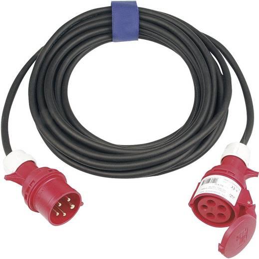 Strom Verlängerungskabel [ CEE-Stecker - CEE-Kupplung] 32 A Schwarz 25 m SIROX 365.425