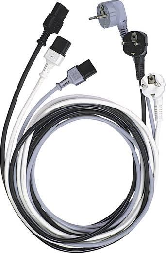 Kaltgeräte Anschlusskabel [ Schutzkontakt-Stecker - Kaltgeräte-Buchse C13] Schwarz 2.50 m LappKabel 73222334