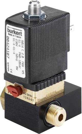 3/2-Wege Direktgesteuertes Ventil Bürkert 424113 24 V/DC G 1/8 Nennweite 2 mm Gehäusematerial Messing Dichtungsmaterial FKM Ruhestellung geschlossen, Ausgang 2 entlastet