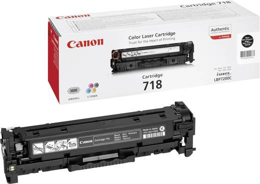 Canon Toner 718 BK 2662B002 Original Schwarz 3400 Seiten