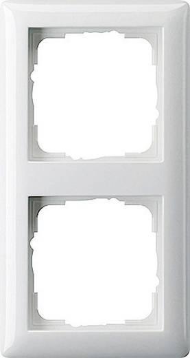 GIRA 2fach Rahmen System 55, Standard 55 Reinweiß, Matt 021204
