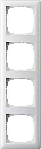 GIRA 4fach Rahmen System 55, Standard 55 Reinweiß, Matt 021404