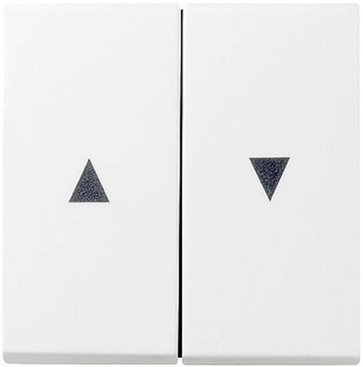 GIRA Abdeckung Jalousie-Schalter System 55, Standard 55, E2, Event, Event Klar, Event Opak, Esprit, ClassiX Sauber-Weiß