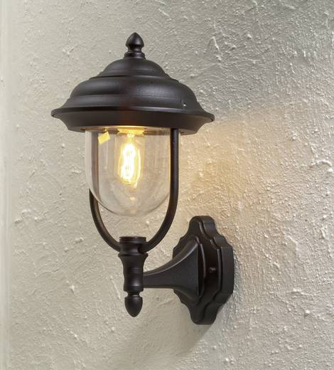 Außenwandleuchte Energiesparlampe, LED E27 75 W Konstsmide Parma 7223-750 Schwarz