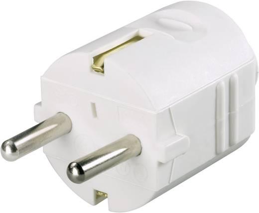 Schutzkontaktstecker Kunststoff 230 V Weiß IP20