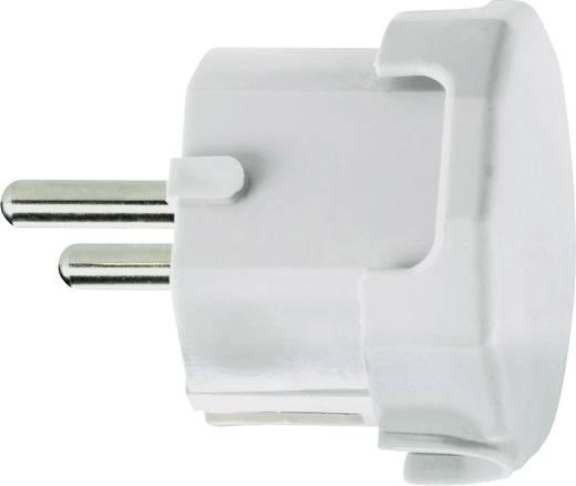 Schutzkontakt-Winkelstecker Kunststoff 230 V Weiß IP20