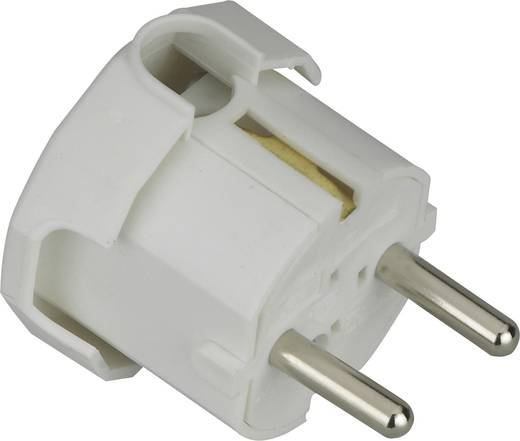Schutzkontakt-Winkelstecker Kunststoff 230 V Weiß IP20 627615