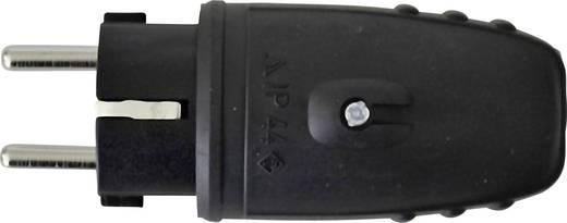 Schutzkontaktstecker Gummi 230 V Schwarz IP44 GAO 627631