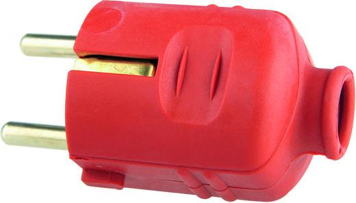 Schutzkontaktstecker Kunststoff 230 V Rot IP20 GAO 620258