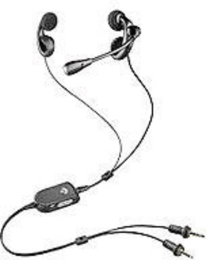 Telefon-Headset 3.5 mm Klinke schnurgebunden, Stereo Plantronics Audio 450 In Ear Schwarz, Silber