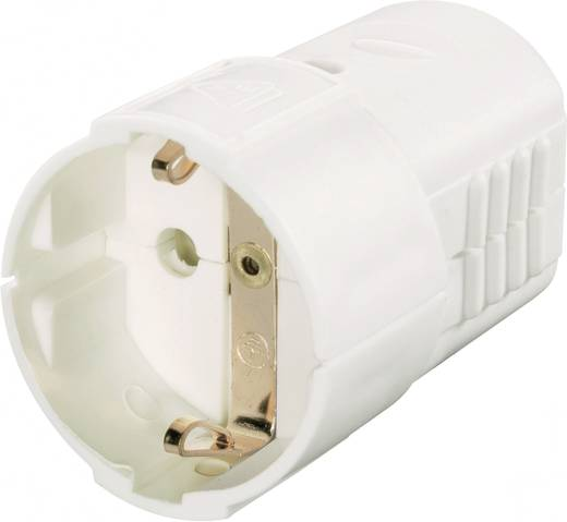 Schutzkontaktkupplung Kunststoff 230 V Weiß IP20