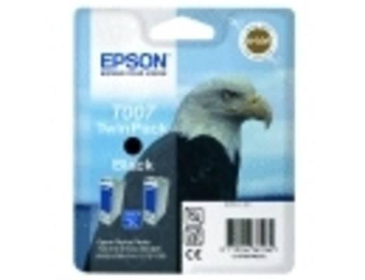 Epson Tinte T007 Original 2er-Pack Schwarz C13T00740210