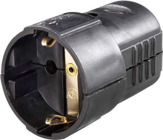 Schutzkontaktkupplung Kunststoff 230 V Schwarz IP20 GAO