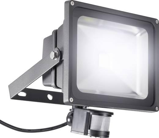 LED-Außenstrahler mit Bewegungsmelder 30 W Kalt-Weiß 9281c3 Schwarz