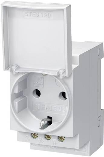 Hutschienen-Steckdose mit Klappdeckel Grau 16 A 250 V/AC Siemens 5TE6801