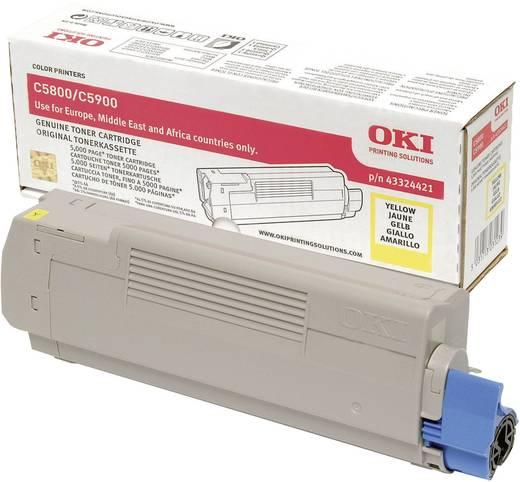 OKI Toner C5800 C5900 43324421 Original Gelb 5000 Seiten