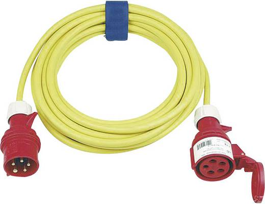 Strom Verlängerungskabel [ CEE-Stecker - CEE-Kupplung] 16 A Gelb 25 m mit Phasenwender SIROX 363.525.05