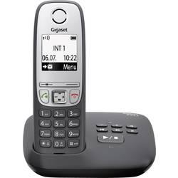 Image of Gigaset A415A schwarz DECT, GAP Schnurloses Telefon analog Anrufbeantworter, Freisprechen Schwarz