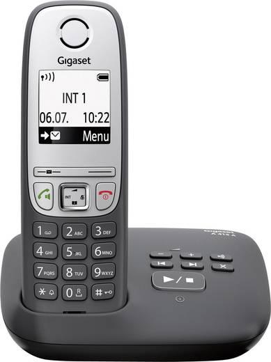 Schnurloses Telefon analog Gigaset A415A noir Anrufbeantworter, Freisprechen Schwarz, Silber