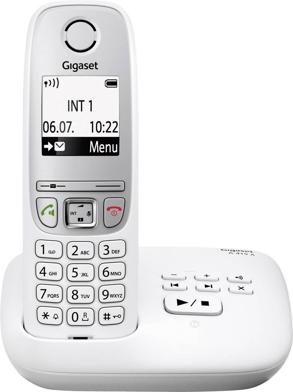 Festnetztelefone & Zubehör Gigaset A 415 A Duo Schnurloses Telefon Freisprechfunktion Schwarz Silber Handys & Kommunikation