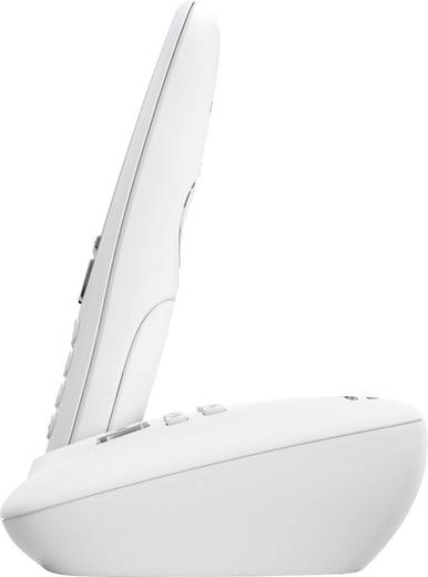 Schnurloses Telefon analog Gigaset A415A Anrufbeantworter, Freisprechen Weiß, Silber
