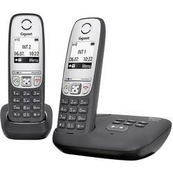 Image of Gigaset A415A Duo DECT, GAP Schnurloses Telefon analog Anrufbeantworter, Freisprechen Schwarz