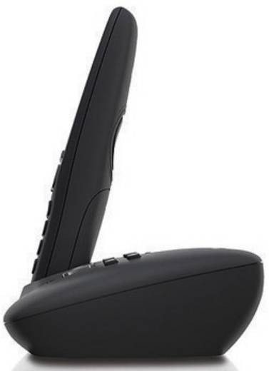 Schnurloses Telefon analog Gigaset A415A Duo Anrufbeantworter, Freisprechen Schwarz