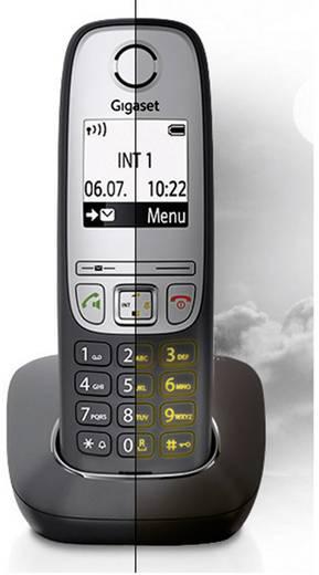 Schnurloses Telefon analog Gigaset A415A Trio Anrufbeantworter, Freisprechen Schwarz, Silber