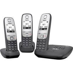 Image of Gigaset A415A Trio DECT, GAP Schnurloses Telefon analog Anrufbeantworter, Freisprechen Schwarz