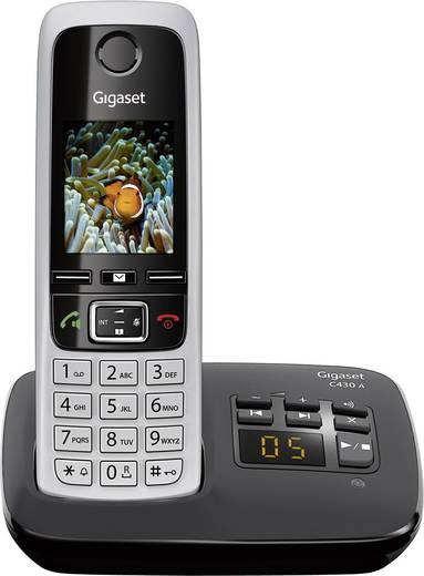 Schnurloses Telefon analog Gigaset C430A Anrufbeantworter, Headsetanschluss, Babyphone, Freisprechen Silber, Schwarz
