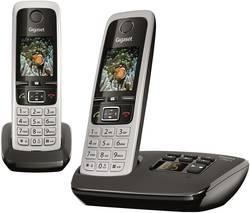 Bezdrátový analogový telefon Gigaset C430A Duo, stříbrná, černá