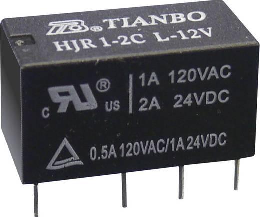 Printrelais 12 V/DC 2 A 2 Wechsler Tianbo Electronics HJR1-2C-L-12VDC 1 St.