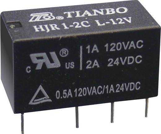 Printrelais 5 V/DC 2 A 2 Wechsler Tianbo Electronics HJR1-2C-L-05VDC 1 St.