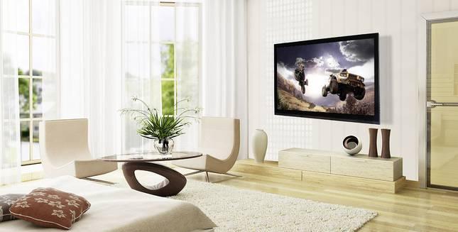Fernseher als fester Bestandteil eines Wohnzimmers
