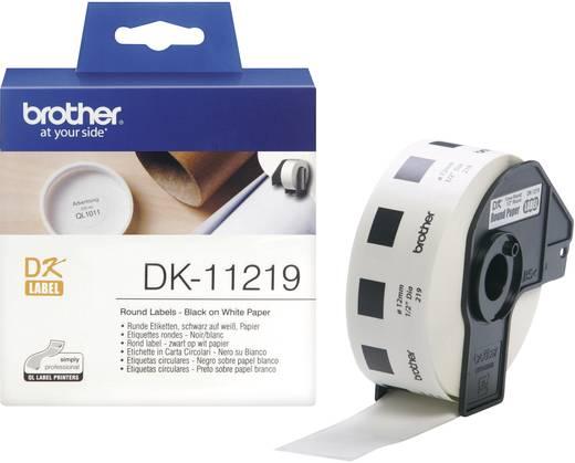 Brother Etiketten (Rolle) Ø 12 mm Papier Weiß 1200 St. Permanent DK11219 DK-11219 Universal-Etiketten