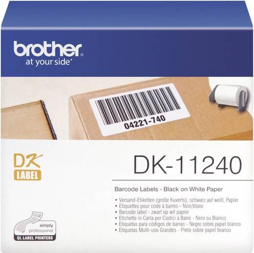 Brother Etiketten (Rolle) 102 x 51 mm Papier Weiß 600 St. Permanent DK11240 DK-11240 Versand-Etiketten
