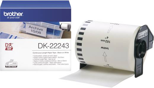 Brother Etiketten (Rolle) 102 mm x 30.48 m Papier Weiß 1 Rolle(n) Permanent DK22243 DK-22243 Universal-Etiketten