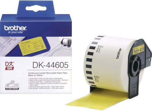Brother Etiketten (Rolle) 62 mm x 30.48 m Papier Gelb 1 Rolle(n) Wiederablösbar DK44605 DK-44605 Universal-Etiketten